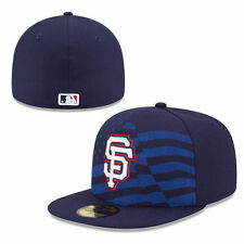 SAN FRANCISCO GIANTS MLB JULY 4TH ON FIELD NEW ERA NAVY FITTED HAT/CAP NWT