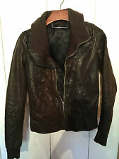 Rick Owens distressed Sheep Skin Funnel Collar jacket fw 2008