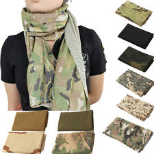 Army Military Fish Net Mesh Tactical Camouflage Scarf Shawl Head Wrap Outdoor