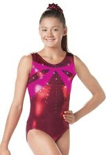 New Dance Gymnastics Leotard Adult M L Medium & Large Metallic Mystique Foil