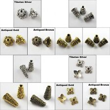 50 Pcs Practical Tibetan Silver Cone Shape End beads Charm Jewelry Findings DIY
