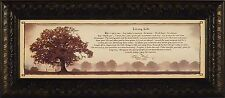 LIVING LIFE by Bonnie Mohr 10x22 FRAMED PRINT PICTURE Inspirational Quote Tree