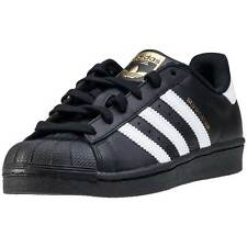 adidas Superstar Foundation Kids Trainers Black White New Shoes