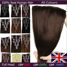 Grade AAAAA Long Straight Clip In 100% Remy Human Hair Extensions Full Head J711