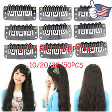 30 PCS 32mm Black U Shape Snap Metal Clips for Hair Extensions Weft Clip-on GG16