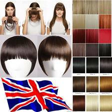 UK clip in on bangs fringe hair extensions #1/2/4/6/613/30/33/110For human party