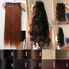 Long Straight Five Clip Onepiece Clip in Hair Extensions Synthetic Hair piece HO