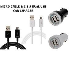 High Speed 1M 2M 3M White & Black  Micro USB Cable and In Dual USB  Car Charger
