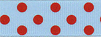 Berisfords R1346115 | Spotty Grosgrain Ribbon 20m x 15mm