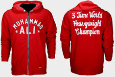 UNDER ARMOUR X ROOTS OF FIGHT MUHAMMAD ALI 3X's FLEECE RED FULL-ZIP HOODIE NWT