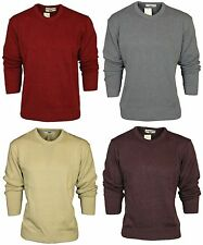 New Mens Sweater High Profile Carabou Crew Neck Jumper Cardigan Knitwear