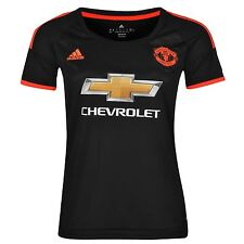 Adidas Manchester United FC Third Jersey Womens Black/Red Football Soccer Shirt