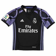 Adidas Real Madrid Third Jersey 2016 2017 Juniors Black/Purple Football Soccer
