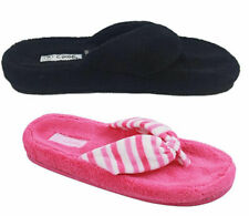 Ladies Slippers Grosby Breeze Summer Slipper Thongs Size S-XL Pink or Black