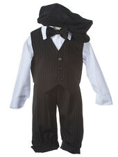 NEW Boys Black Knicker Set,  Kids Formal Outfit for Infants, Toddlers, & Boys