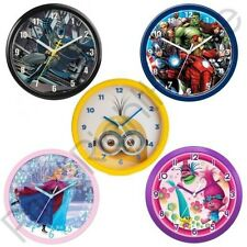 CHILDRENS OFFICIAL CHARACTER WALL CLOCKS – SPIDERMAN, AVENGERS, BATMAN + MORE