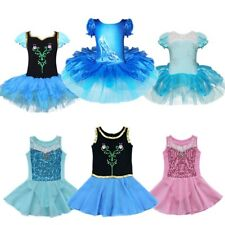 Fancy Girls Princess Costume Ballet Leotard Dancewear Flower Dress Party Cosplay