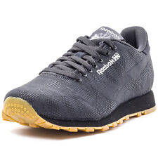 Reebok Classic Run Jaquard Mens Trainers Black Black New Shoes