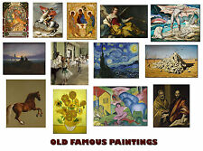 Greatest Masterpieces of Old Masters Painters 1, A3, A2, A1 Art Print Posters
