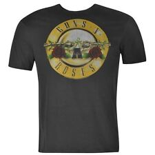 Amplified Clothing Mens Gents Guns N Roses T-Shirt Crew Neck Short Sleeve Top