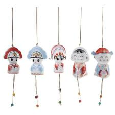 Ceramic Campanula Charming Groom Bride Wind Chime Wall Hanging Home Garden ACCS