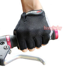 Black New Cycling Bike Bicycle Ultra-breathable Wearable Half Finger Glove M-XXL