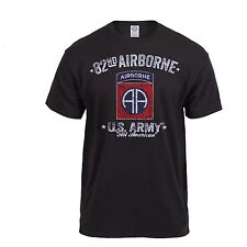 US ARMY 82nd Airborne Division T-Shirt ALL AMERICAN Korea Vietnam OEF OIF Div