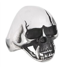 Ominous Stainless Steel Cracked SKULL Ring Biker Gothic Jewelry Size 8-15