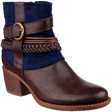 Divaz Womens/Ladies Vado Fleece Lined Casual Fashion Ankle Boots