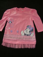 DISNEY MINNIE MOUSE long sleeved  TEE SHIRT NWTS 6-12 months ADORABLE PRINT.