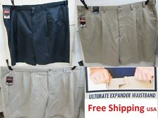 Rountree & Yorke Big Man Classic Fit Pleated Expander Waistband New Mens Shorts