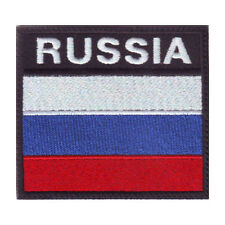 RUSSIA BADGE FLAG EMBROIDERED  PATCH