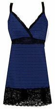 Delta Burke Lace Trim Chemise Blue Twilight Maze Chemise Sizes 14 Thru 20W
