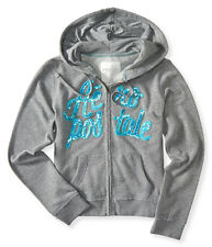 AEROPOSTALE WOMENS HOODIE FULL ZIP AERO JACKET SEQUIN BLING SWEATSHIRT 6277
