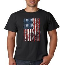 Patriotic T Shirt Vertical American Flag USA Pride July 4th Mens