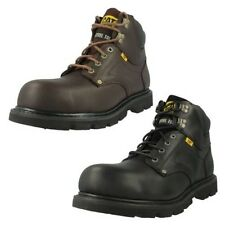 Mens Caterpillar Steel Lace Up Toe Cap Ankle Boots Grouser ST