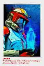 20x Art greeting card Star Wars Execute Order 66, from the Artist, size 5x7in