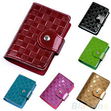 Woman Lady Patent Leather ID Credit Card Case Holder Pocket Bag Wallet Hot