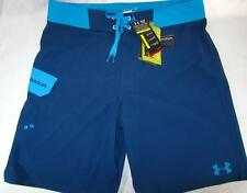 Mens new Under Armour Loose heatgear boardshorts size 30 32 blue Hydro Armour