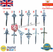 Celtic Sword Kilt PIn Chrome Finish Various Design/Scottish Thistle Kilt Pins