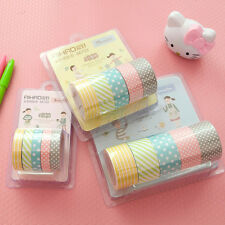 Design Wide 8/15/20mm DIY Paper Sticky Adhesive Sticker Decorative Washi Tape