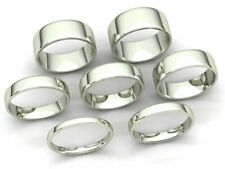 Comfort Fit Euro Dome Wedding Band Ring Mens Womens 2mm-8mm Solid 14k White Gold