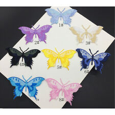 Embroidery Butterfly Sew Iron On Patch Badge Embroidered Fabric Applique DIY QW
