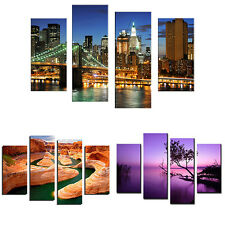 4 Pcs Frameless Canvas Painting Pictures Freehand Living Room Art Decor Hot