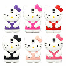 1 x Brand New 3D Cute Cartoon Hello Kitty Phone Case Cover Skin For Samsung S5