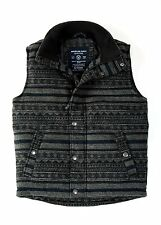 AEO American Eagle Outfitters Men Wool Puffer Vest Dark Gray XS-L NWT