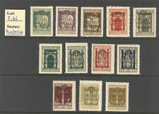 """F_46. FIUME.1924 """"SAN VITO AND OTHER SUBJECTS overp. REGNO D'ITALIA"""" set. Mint"""