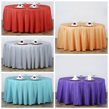 """120"""" Round Polyester Tablecloth Wedding Table Linens Decoration Supplies"""