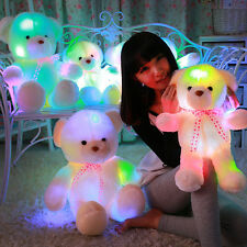 Christmas Cute Stuffed LED Light Plush Lovely Teddy Bear Doll Gift Baby Toy HOT