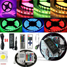 5M/10M 20M LED5050 RGB Flexible Strip String Light(Remote+Power) For Xmas Decor